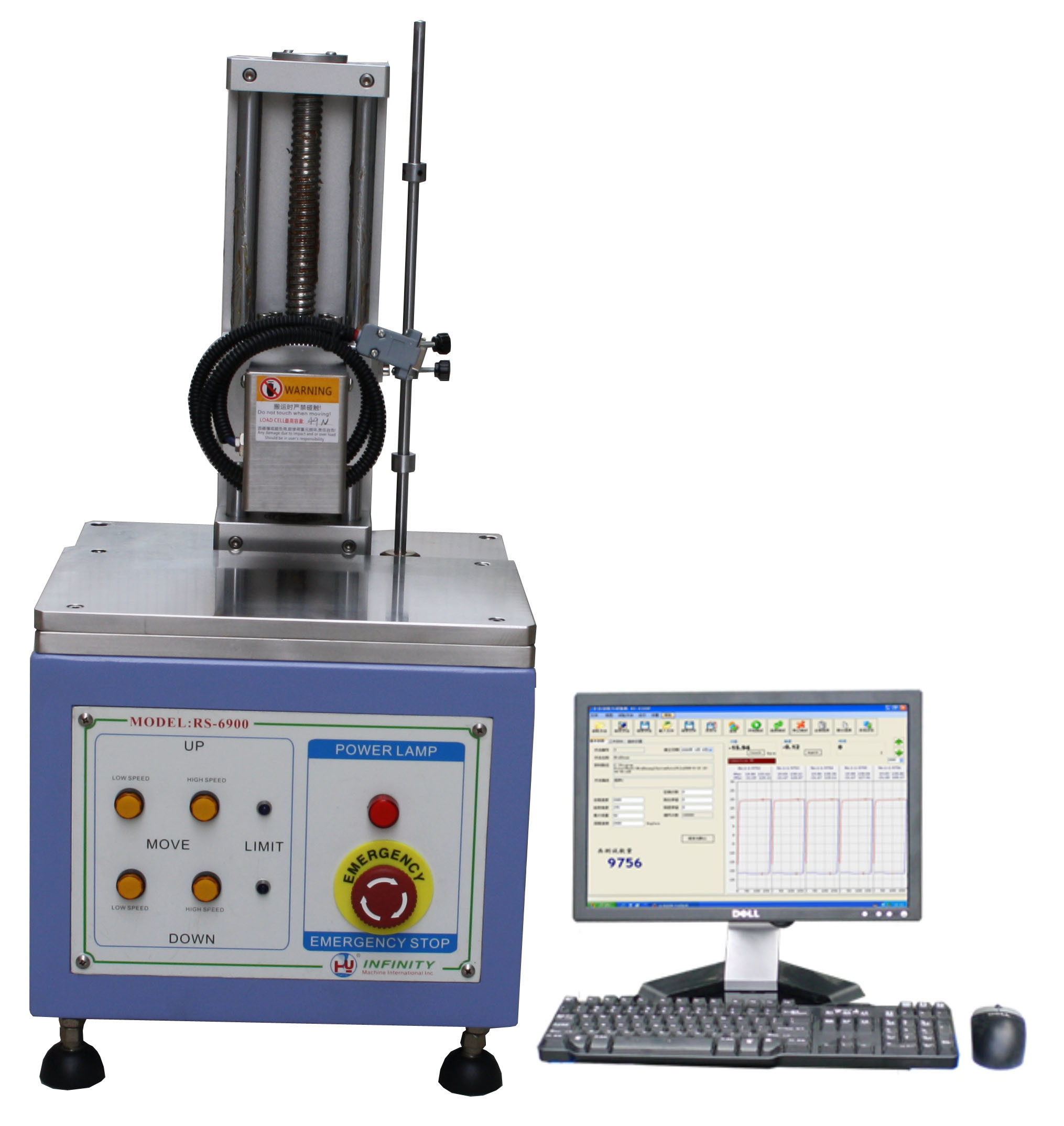 Quality Control Servo Control Key Stoke Force Tester for Load Stroke Curve Test