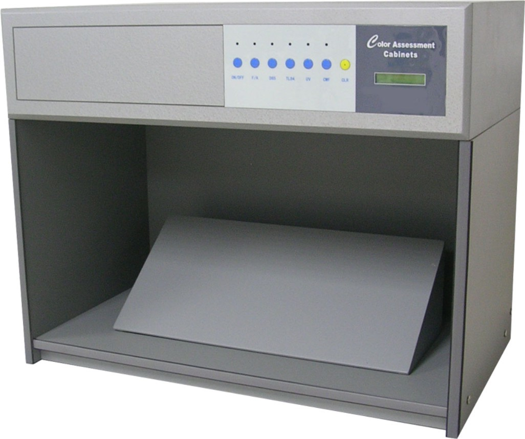 CE And ISO Color Assessment Cabinet , Lab Light Booth For Color Matching