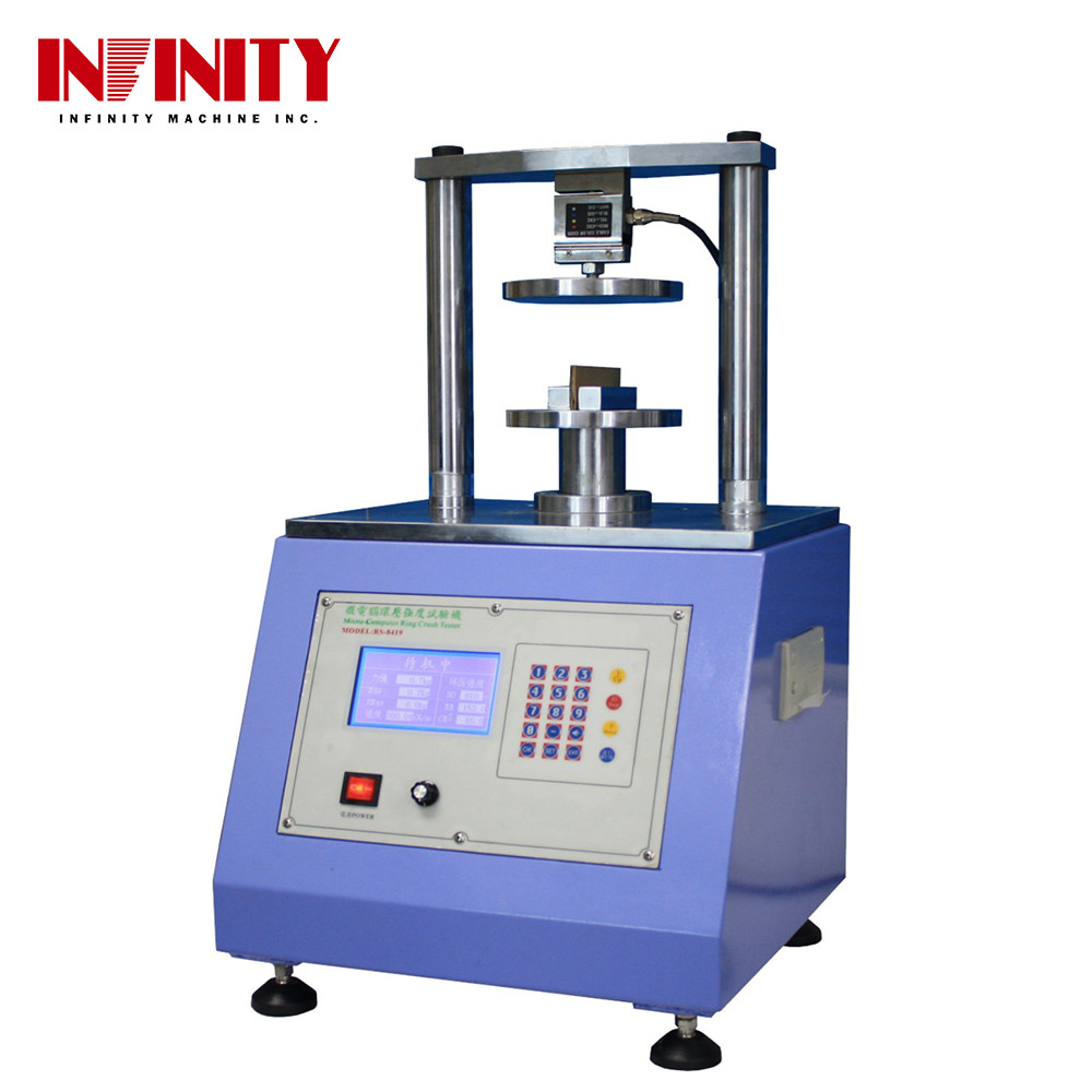 Touch Screen Compressive Strength Testing Machine Ring Crush Tester Edge Crush Tester
